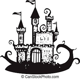 Magic Vine Covered Castle - Castle covered with spiral ...