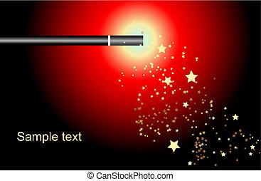 Magic wand - Editable vector background - magic wand