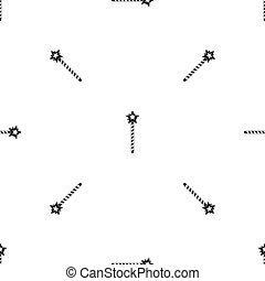 Magic wand pattern seamless black