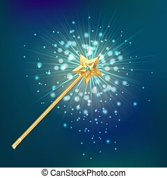 Magic Wand Realistic Background