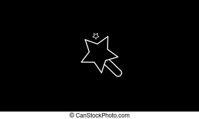 Magic Wand Thin Icon With Alpha Channel - Business and...