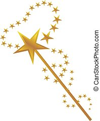 Magic wand vector illustration.
