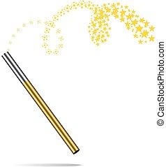 Magic wand vector illustration on white - Magic wand vector...