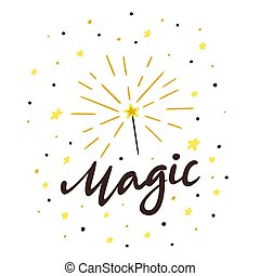 Magic Wand with Lettering