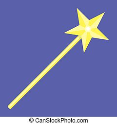 Magic wand with star