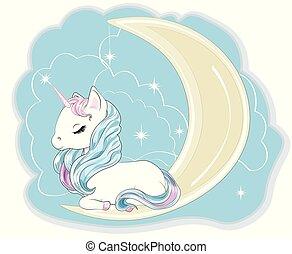 unicorn on the moon