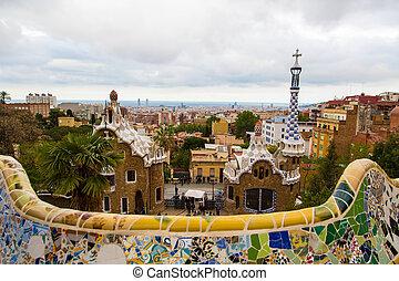 Magic wonderful gardens in Barcelona