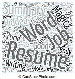 Magic words in your Resume Word Cloud Concept
