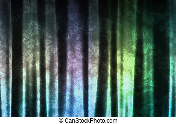 Magical Blue Green Pattern Abstract Fabric Background