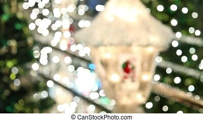 Magical Christmas lantern with the image of Santa Claus