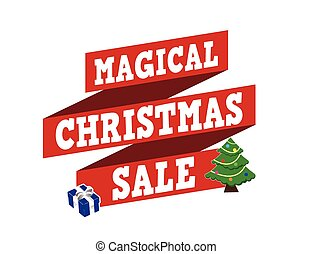 Magical Christmas sale banner design