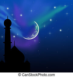 Magical Eid Night - Eid illustration with a magical evening...