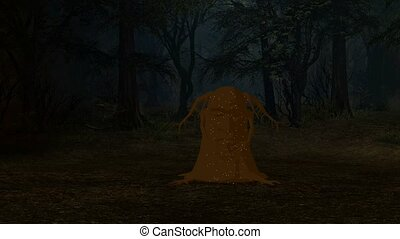 Magical Enchanted Tree - Magical enchanted tree in a forest