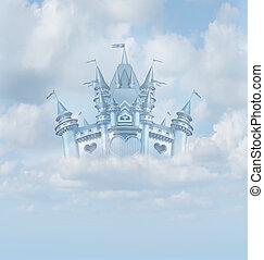 Magical Fairytale Castle - Magical fairytale castle floating...