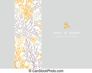 Magical floral horizontal frame seamless pattern background