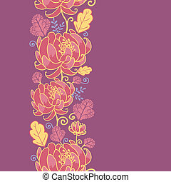 Magical flowers vertical seamless pattern background