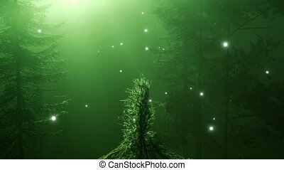 Magical Forest with Sparkles - magical forest with sparkles...
