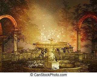 fantasy illustration of a magical night