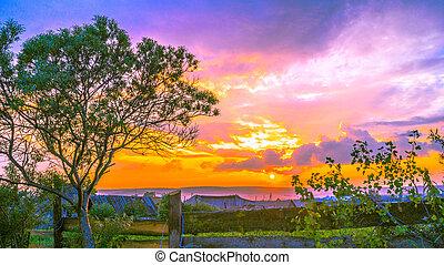 Magical landscape - Evening landscape with interesting...