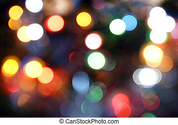 Magical Lights. Blurry pattern of colorful decoration lights