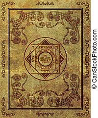 Magical Mystic Sigil Symbol Design on Old Paper -...