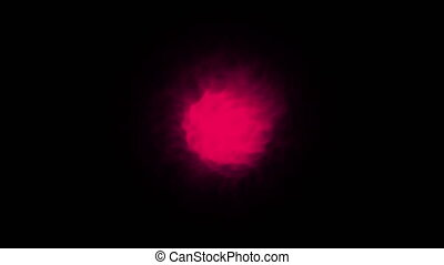 Magical Orb on a Black Background. Seamless loop