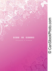 Magical pink butterflies vertical template background - ...