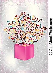 magical-pink-gift-box-with-colorful-swirls