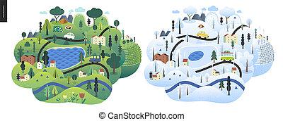 Magical season landscape