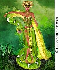 Magical snake goddess