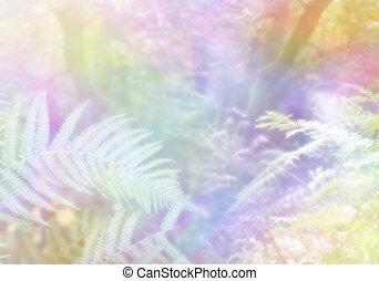 Magical spiritual multicoloured ethereal woodland background