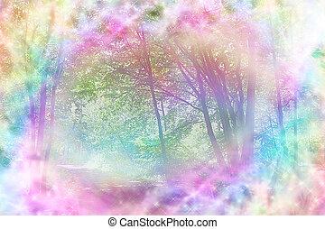 Magical Spiritual Woodland Scene
