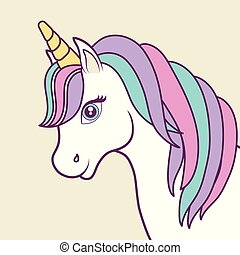 magical unicorns design - magical unicorn icon over ...
