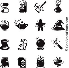 Magical vector icons set