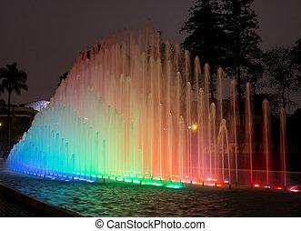 Magical Water Circuit in Reserve Park Lima Peru