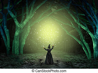 Magical Witch Background