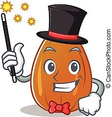 Magician almond nut character cartoon