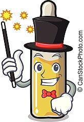 Magician ampoule mascot cartoon style vector illustration