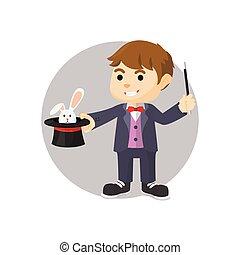 Magician boy illustration
