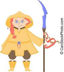 magician., caractère, amical, gnome, mignon