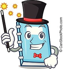 Magician education mascot cartoon style