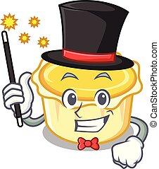 Magician egg tart mascot cartoon