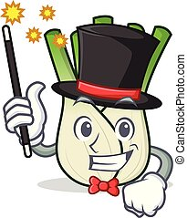 Magician fennel mascot cartoon style vector illustration