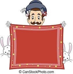 Magician Handkerchief Banner Hold