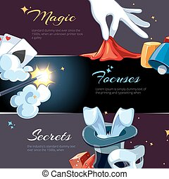 Magician illsutrations for template of web banners