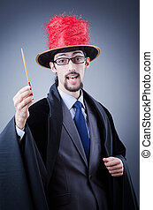Magician in the business suit