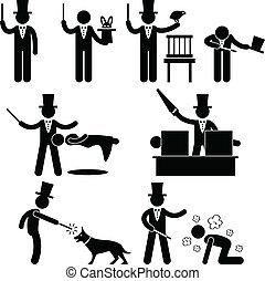 Magician Magic Show Pictogram - A set of pictograms ...