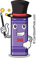 Magician purple crayon in a mascot bag