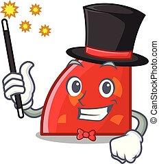 Magician quadrant mascot cartoon style vector illustration