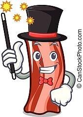 Magician ribs mascot cartoon style vector illustration